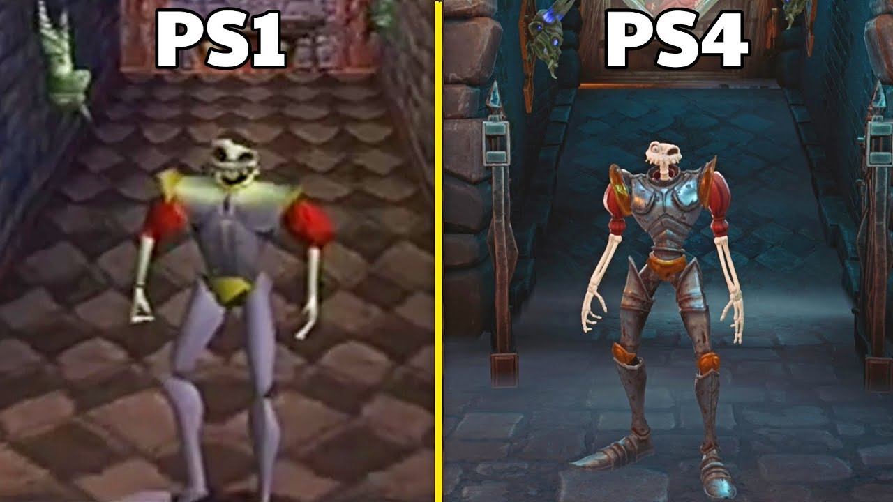 MediEvil Remake PS4 VS Original PS1 Graphics Comparison - YouTube