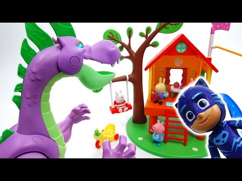 Thumbnail: Romeo Created a Pink Dragon~! Let's Go PJ Masks!