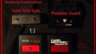 Solar Predator Protection, Nite Guard, Predator Guard, Solar Nite Eyes, Yard Sentinel, Review