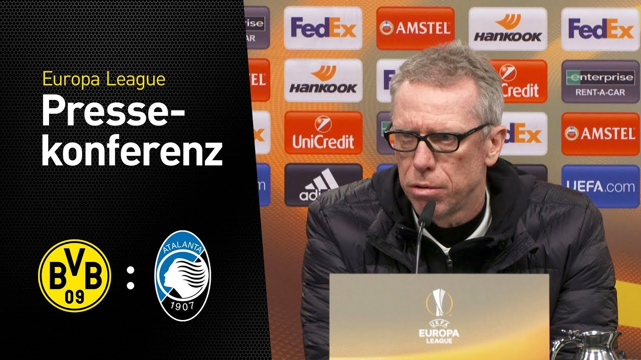 """Michy ist ein echter Torjäger!"" | Peter Stöger | BVB - Atalanta Bergamo 3:2"