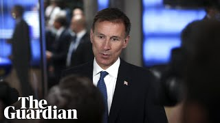 Jeremy Hunt says 'small window' exists to save Iran nuclear deal