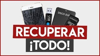 ¿USB Dañado o TELÉFONO CELULAR Roto? RECUPERAR FOTOS, VÍDEOS y datos ELIMINADOS o FORMATEADOS (2018)