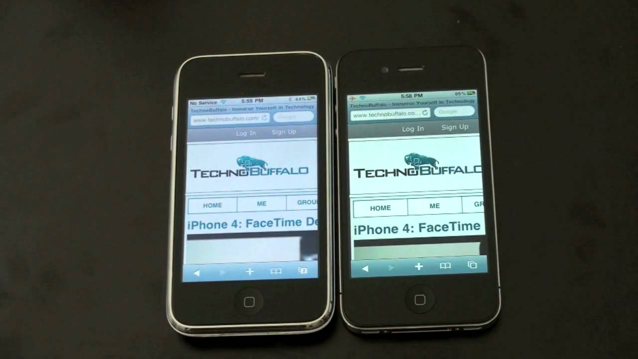 iphone 4 vs iphone 3gs youtube