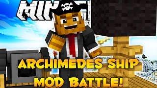 Minecraft Archimedes Air Ship MOD BATTLE (Modded Minigame)