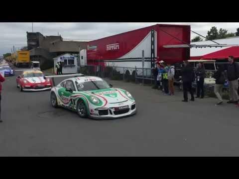 Post-Race Lineup @ IMSA GT3 Cup Challenge, Montreal QC, June 11 2016