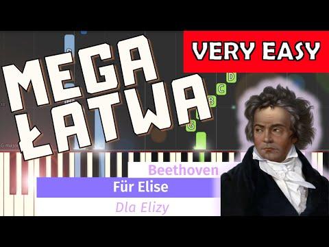 🎹 Dla Elizy (L. van Beethoven, For Elise) - Piano Tutorial (MEGA ŁATWA wersja) (VERY EASY) 🎹