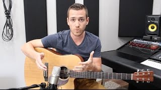 Recording Acoustic Guitar (My Foolproof Method) - TheRecordingRevolution.com