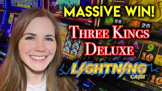 Very Lucky BIG BONUS Wins! High Limit Lightning Cash Slot Machine!!