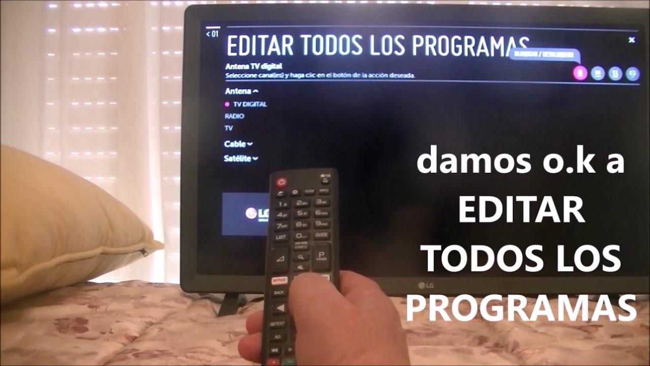 Ordenar Los Canales T V Lg Youtube
