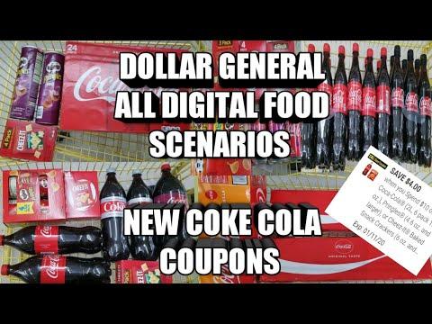 DOLLAR GENERAL ALL DIGITAL FOOD DEALS| CHEAP COCA COLA PRODUCTS