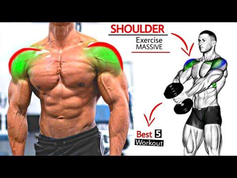 Best SHOULDER MASS Exercises Workout   (DUMBBELL + BARBELL) SHOULDER Exercises