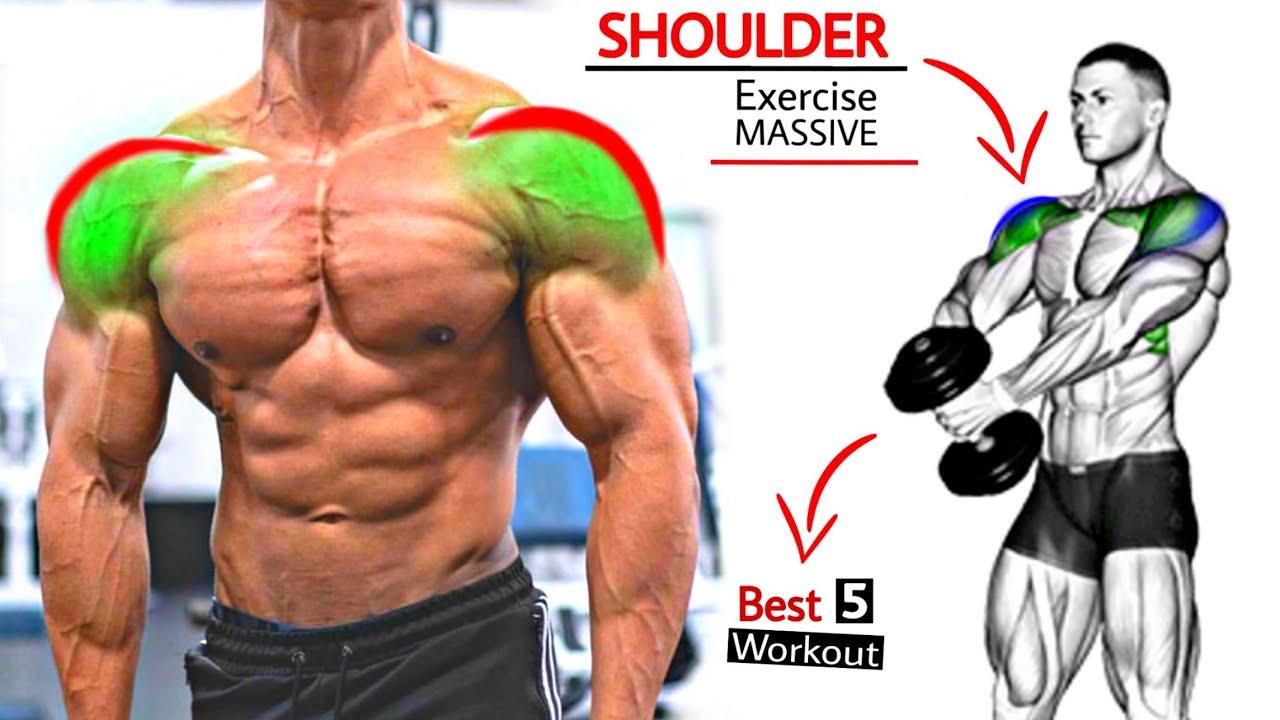 Best SHOULDER MASS Exercises Workout | (DUMBBELL + BARBELL) SHOULDER Exercises