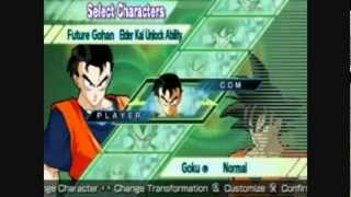 DBZSB2 (DragonBall Z Shin Budokai 2) All Characters and Transformations {DBOFRUEND}