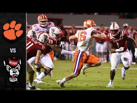 Clemson Vs. NC State Football Highlights (2019-20)