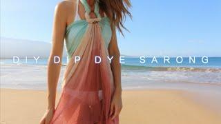 DIY Dip Dye Sarong (Turquoise/Rust) Thumbnail