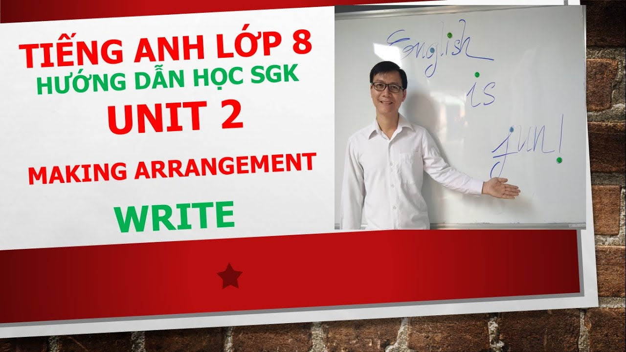 Tiếng Anh lớp 8 (Học SGK) – Unit 2 – Write – 1