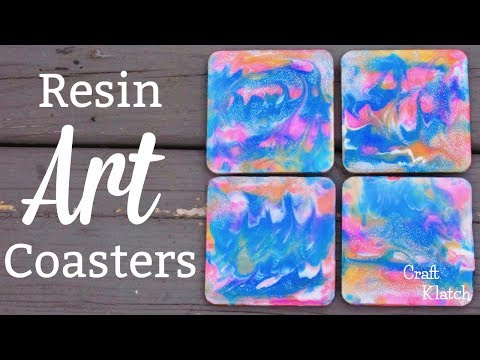 Easy Resin Art Coasters Backside!  |  Another Coaster Friday | Craft Klatch