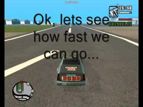 fastest vehicles in gta sa