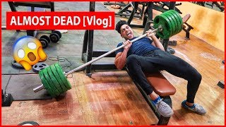 Bench Press Challenge FAIL [Vlog] - ALMOST DEAD
