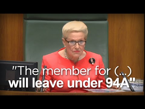 Bronwyn Bishop Ejects Record 18 Members From Question Time