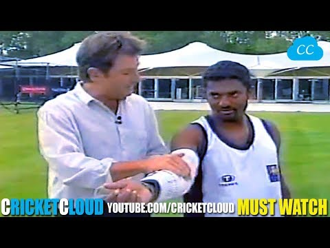 Legend Muttiah Muralitharan Bowling with STEEL ARM Brace - Proving his Action is LEGAL