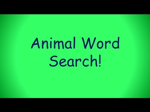Animal Themed Word Search Puzzle Challenge 1