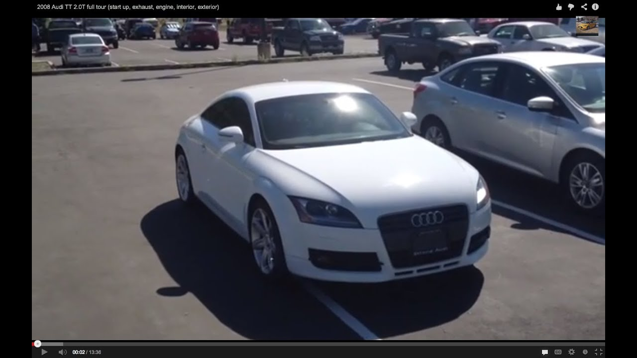 2008 audi tt 2 0t full tour start up exhaust engine interior exterior youtube. Black Bedroom Furniture Sets. Home Design Ideas