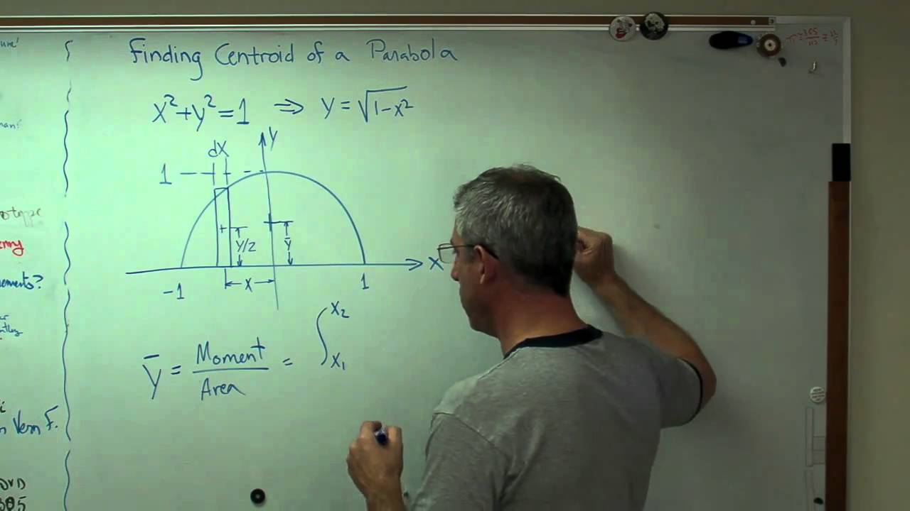 Finding Centroid of a Parabola MP4