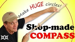 Make huge circles with a homemade beam compass. Woodworking shop project! Thumbnail