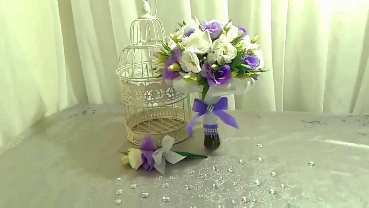 Свадебный букет лизиантуса, заказ букета цветов через интернет город екатеринбург