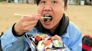 Makan Sushi Dipinggir Laut Mukbang#1