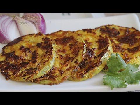 Pan Frying Round Bottle Gourd | Pan Fry Kaddu Recipe | Pan Fry Dudhi, Lauki, Opo