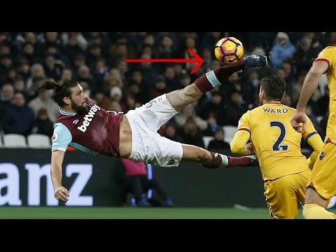 Andy Carrol's Fantastic Bicycle Strike - WestHam United vs Crystal Palace - 01/14/17 Premier League