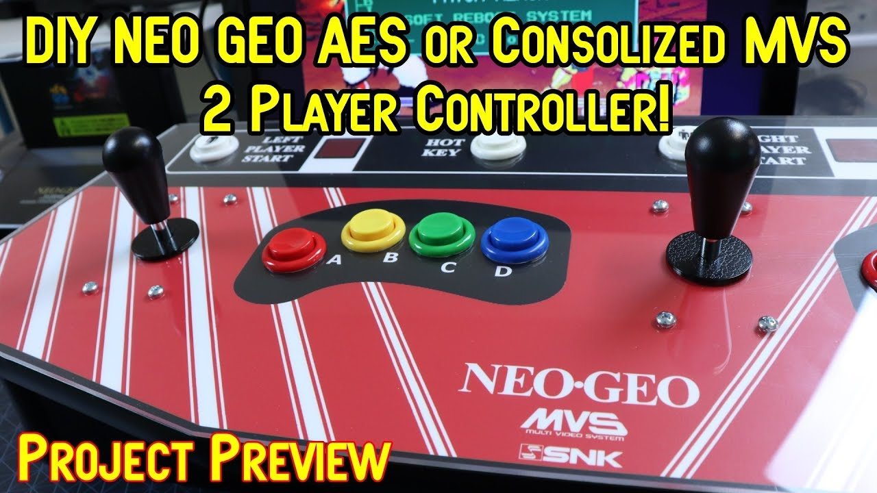 DIY Neo Geo AES/Consolized MVS C-Box 2 Player Controller Preview