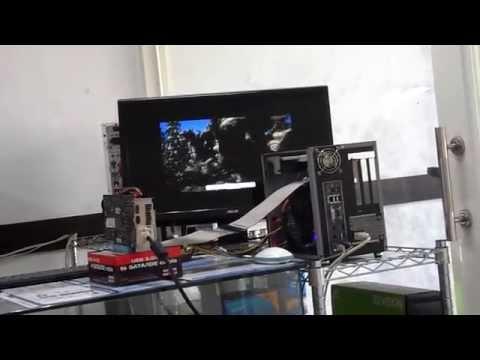 PCI-E 3.0 riser card connected to PCI-E 3.0 riser card 3D MARK test