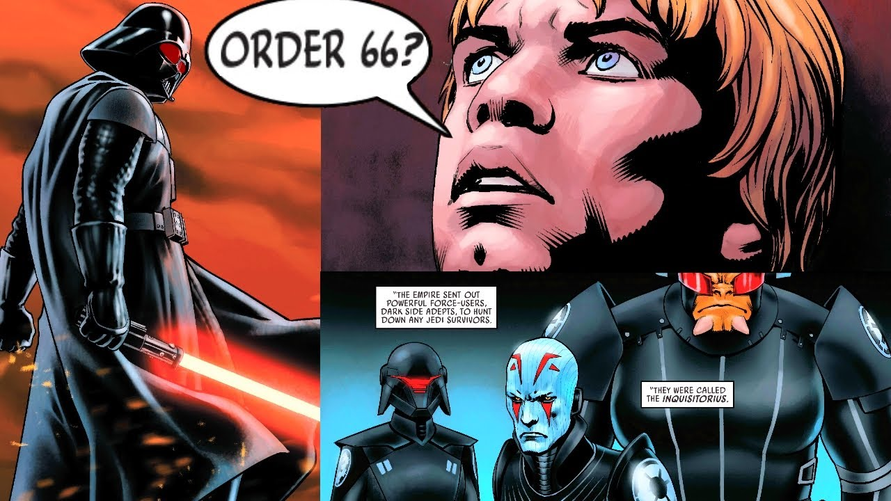 Luke Finds out Darth Vader killed Younglings during Order 66(Canon) - Star Wars Comics Explained