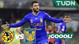 ¡Gol de Gignac y Tigres le da la vuelta! | América 1 - 2 Tigres | Liga Mx AP 19 4tos de final | TUDN