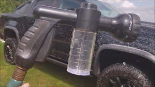 EVILTO Garden Hose Nozzle with Soap Dispenser Review