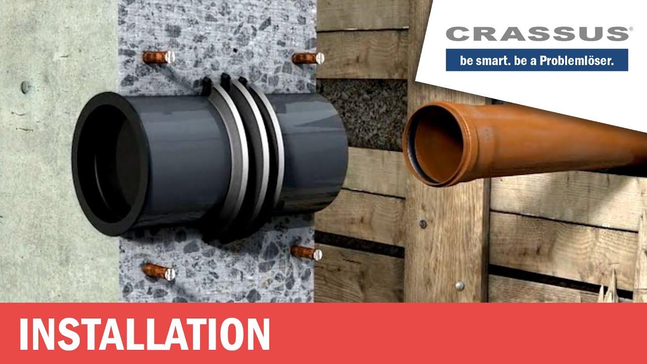 crassus futterrohr fe zum durchf hren von rohren oder kabeln z b kg ht sml mit dichteinsatz. Black Bedroom Furniture Sets. Home Design Ideas