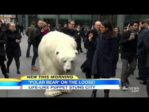 Realistic Polar Bear Puppet Walks Streets of London1:41