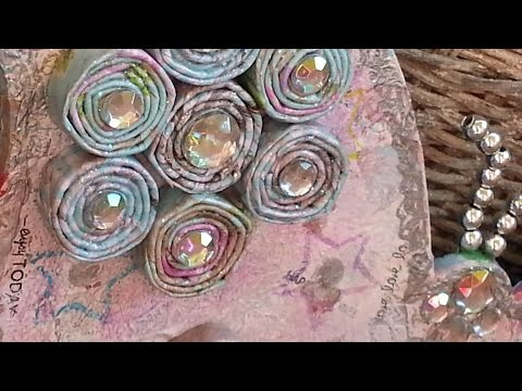 DIY Rolled Paper Bead Mixed Media Art Butterfly Tutorial
