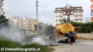 05-05-2011 Turkish firetruck responds to a fire in Avsallar [Alanya, Turkiye]