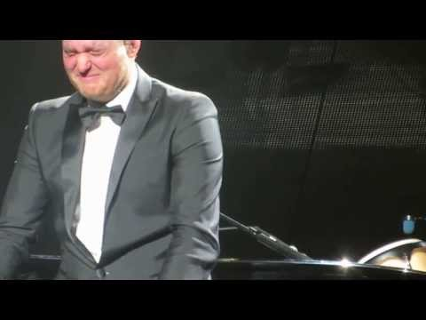 Michael buble cries with laughter in dublin... funniest laugh EVER