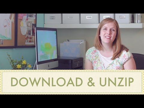 How to Download & Unzip Files Purchased on Etsy Tutorial
