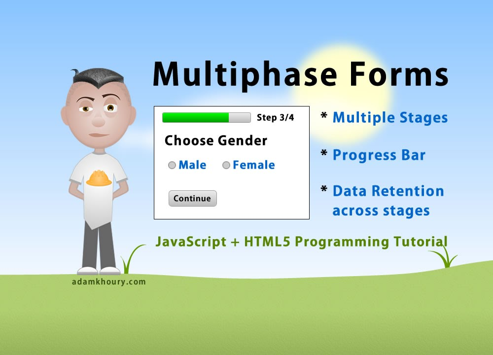 Multiphase Form Programming Tutorial Multi Step JavaScript PHP