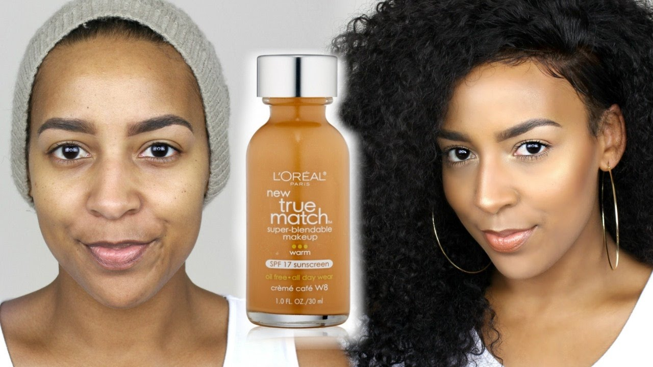L'Oreal True Match Foundation & Concealer Demo + Review ...