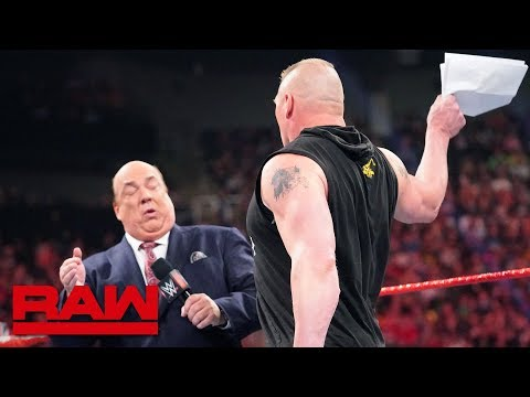 Brock Lesnar Learns An Important Money In The Bank Detail: Raw, May 27, 2019
