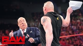 Brock Lesnar learns an important Money in the Bank detail: Raw, May 27, 2019 thumbnail