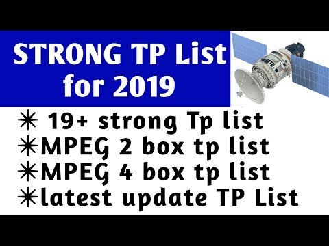 19 satellite Strong TP list, update 16/08/2018