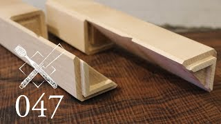 """Joint Venture Ep. 47: Blind and stubbed diagonal half lap """"Hako tsugi"""" (Japanese Joinery)"""